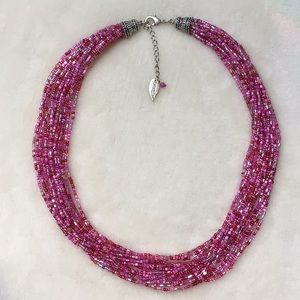 Coldwater Creek Multi-strand Pink Beaded Necklace